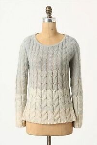 Image is loading Anthropologie-Sweater-Pullover -Fading-Stitch-Top-Ombre-Blue- 4f3325ced