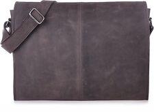 URBAN FOREST Handtaschen XL-Messenger Dunkelbraun Braun 42x28x9cm (BxHxT)