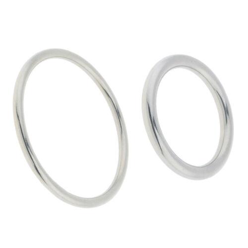 Geschweißte Edelstahl Verbindungsstü O Ring Nahtlose Metallschnalle Runde