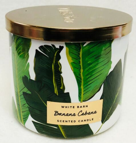 1 Bath /& Body Works BANANA CABANA Large 3-Wick Scented Candle 14.5 oz