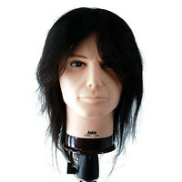 Celebrity 20 Cosmetology Mannequin Head 100% Human Hair Male - Jake 658