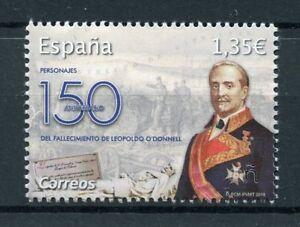 Spain-2018-MNH-Leopoldo-O-039-Connell-150th-Mem-1v-Set-Politicians-Military-Stamps