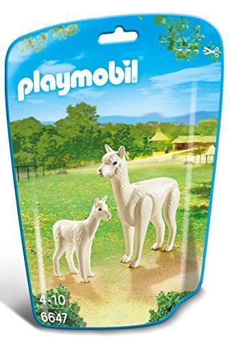 Playmobil 6647 City Life Zoo Alpaca with BabyMulti-color