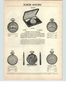 1927-PAPER-AD-6-PG-Illinois-Pocket-Watch-Illini-Acorn-Model-A-Lincoln-Barrister