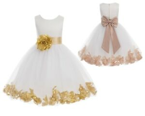 857e5c849b9 Image is loading Flower-Girl-Dress-Rose-Petals-Dresses-Communion-Dress-