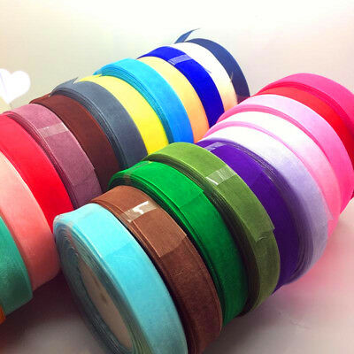 Sheer Organza Ribbon PASTEL PACK 6x 50yds rolls 10mm or 15mm New Value Pack