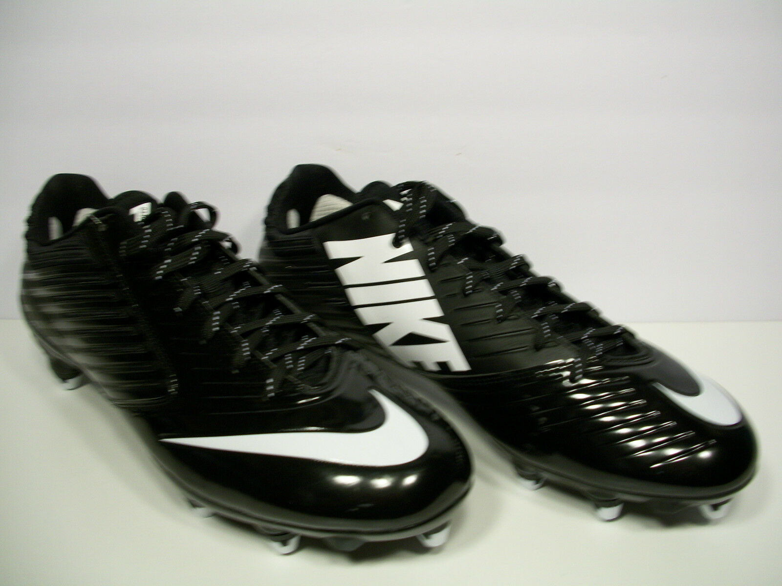 NIKE Vapor Speed Low Football Cleats 643160-010 Black/White Size 12