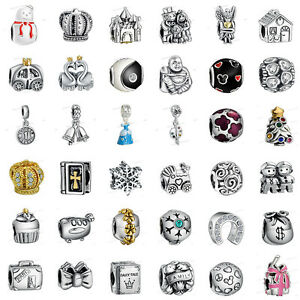 925-European-Sterling-Charms-Silver-Dangle-Bead-for-Bracelet-Chain-Necklace-UK