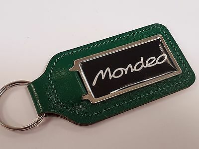 MONDEO WHITE WRITING /& BLACK BACKGROUND KEYRING WITH DOMED STICKER