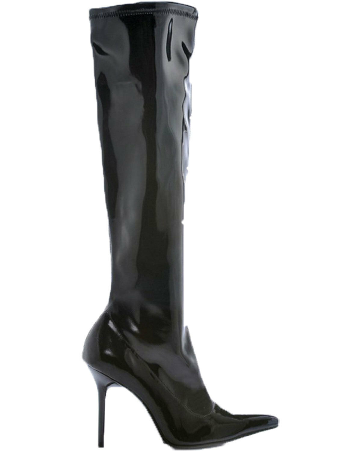 Morris Costume Women's Emma Knee Length Patent Leather Boots Black 10. HA131BK10