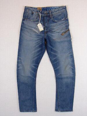 G-Star Raw Arc Zip 3D Loose Tapered W32 L34 RRP £116  Black Effer Denim Jeans
