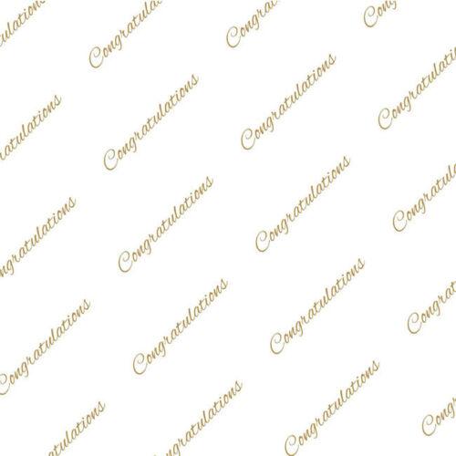 Congratulations Gold Tissue Paper Multi Listing 500x750mm