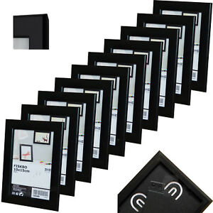 10 st ck set ikea fiskbo 10x15cm schwarz bilderrahmen. Black Bedroom Furniture Sets. Home Design Ideas
