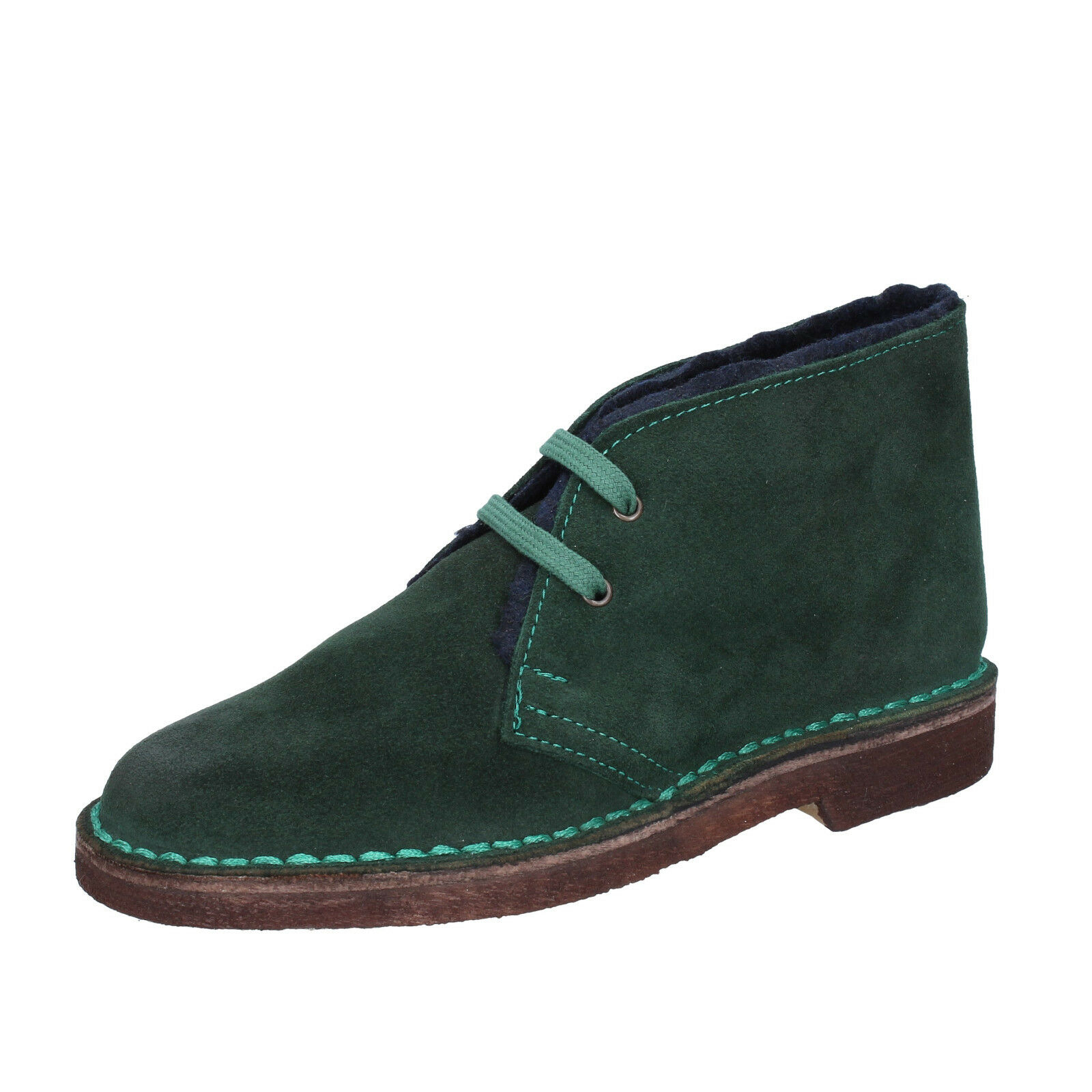 Womens shoes KEPS BY CORAF 2 () desert boots green suede BX675-35