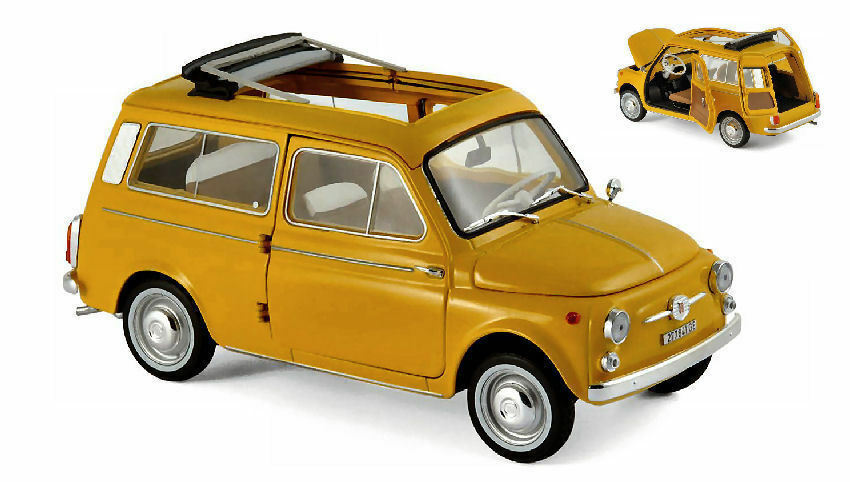 Norev 187724 - 1 18 - Fiat 500 Giardiniera 1968 - positano jaune