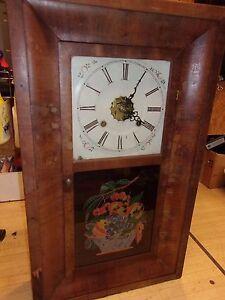 Antique Patent Brass Mantel Wall Clock Ansonia Parlor
