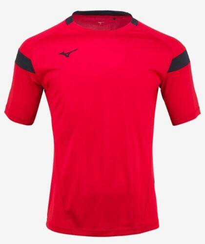 Mizuno Men GAME S//S T-Shirts Jersey Training White Red Top GYM Shirt P2MA8K0101