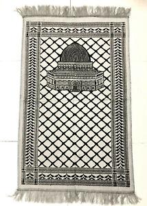 New-Islamic-Prayer-Rug-Muslim-Mat-Sajadah-Carpet-Velvet-Dome-of-The-Rock-Mosque