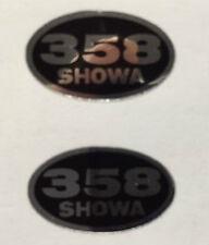 HONDA MT250 ELSINORE SHOWA REAR SHOCK ABSORBER DECALS X 2