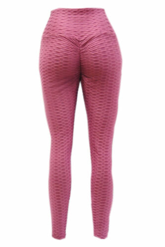 Damen Anti-Cellulite Leggings Sport Hose Kompression Fitness Hohe Taille YG-14