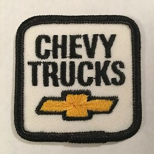 Chevy-Trucks-Tie-Self-Adhesive-Backing-Patch-Chevrolet-GM-Indy-Like-A-Rock