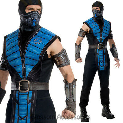 Cl894 Mens Mortal Kombat Sub Zero Subzero Ninja Halloween Fancy Dress Up Costume Ebay