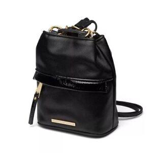 Quay-Australia-Drawstring-Backpack-Authentic-Black-Gold-New-Style-Kardashian