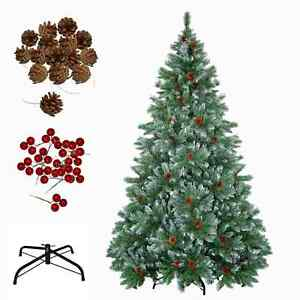 Tannenbaum Grün.Details Zu Weihnachtsbaum Christbaum Künstlicher Tannenbaum Grün Weiss Mit Zapfen