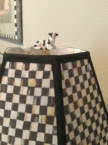 """/""""Molly the Cow/"""" Lovely on a Mackenzie-Childs Lamp or Shade Lamp Finials"""