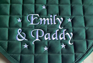 Personalised-Embroidered-Saddle-Cloth-with-small-stars-3-sizes-10-colours-numnah