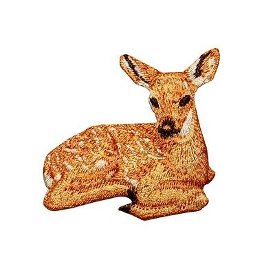ID 0719 Deer Wild Animal Embroidered Iron On Applique Patch