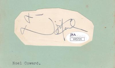 Cards & Papers 1973 Signed 2x3 Cut Of Paper Actor/design For Living Jsa V45724 100% Original Autographs-original Noel Coward D