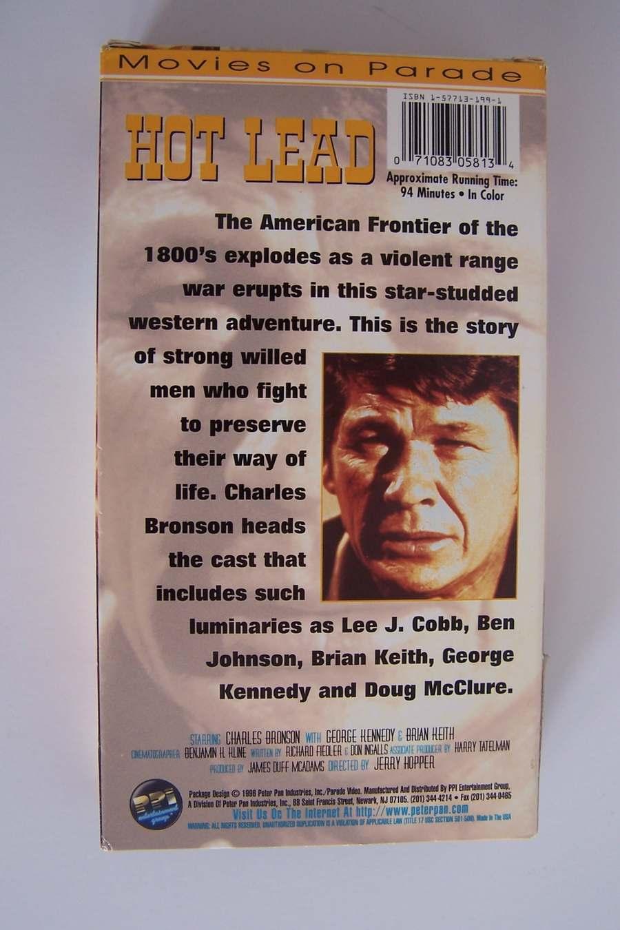 Charles Bronson Hot Lead VHS Video Tape Movie