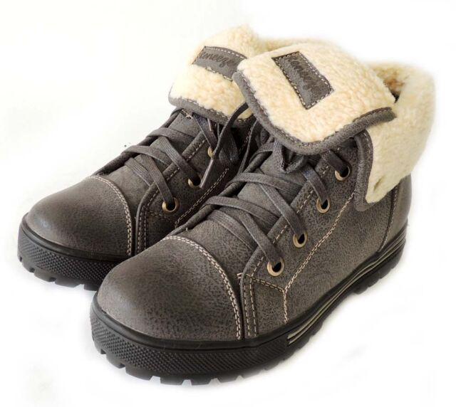 NEW FASHION WOMEN SHOES LACE UP MID-TOP SNEAKERS BOOTIE AMBER - 03 / Grey