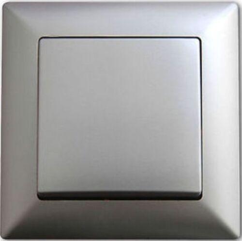 und Ausschalter Schalter Rahmen Steckdose Silber NEU OVP Ein