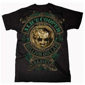 Alice Cooper Billion Dollar Babies Crest T Shirt Sizes S