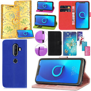 For-Alcatel-3V-3C-3-3L-2019-New-Stylish-Premium-Leather-Wallet-Phone-Case-Cover