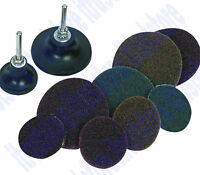 2, 3 Inch Rubber Backing Screw On Fiber Sanding Disc Pad 1/4 Twist Lock Arbor