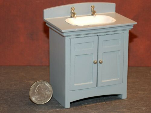 Dollhouse Miniature Kitchen Sink Cabinet Gray 1:12 inch scale G30 Dollys Gallery