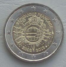 2 Euro Frankreich 2012 10 Jahre Euro unz.