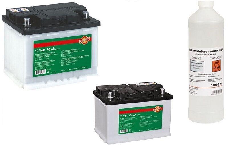 Weidezaunbatterie 12 Volt Spezial Nass - Akku Batterie Batteriesäure Weidegerät
