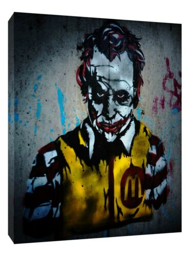 JOKER WALL PAINT   PHOTO  PRINT ON FRAMED CANVAS WALL ART HOME DECORATION