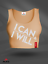 Peach Motivation Gym Fitness Tank Workout PIMD Women Crop Top I Can I Will