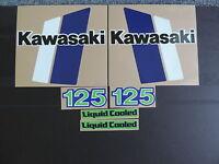 1982 Kawasaki Kx 125 Gas Tank And Side Panel Decal Kit Vintage Motocross