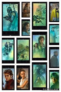 Topps-Star-Wars-Digital-Card-Trader-14-Card-Black-Character-Mural-Wave-4-Set