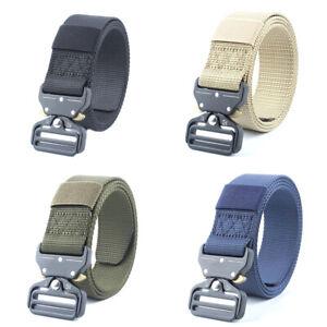 Men/'s Accessories Tactical Belt Military Buckle Automatic Survival Waist Belt