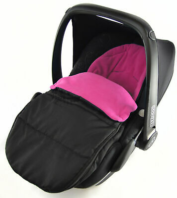 Cosy Toes Compatible With Bebecar Easy Maxi Pink Rose Car Seat Footmuff