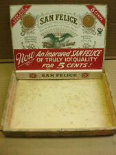 1900's San Felice 5 cent wooden Cigar box Exquisitos Deisel Wemmel Gilbert