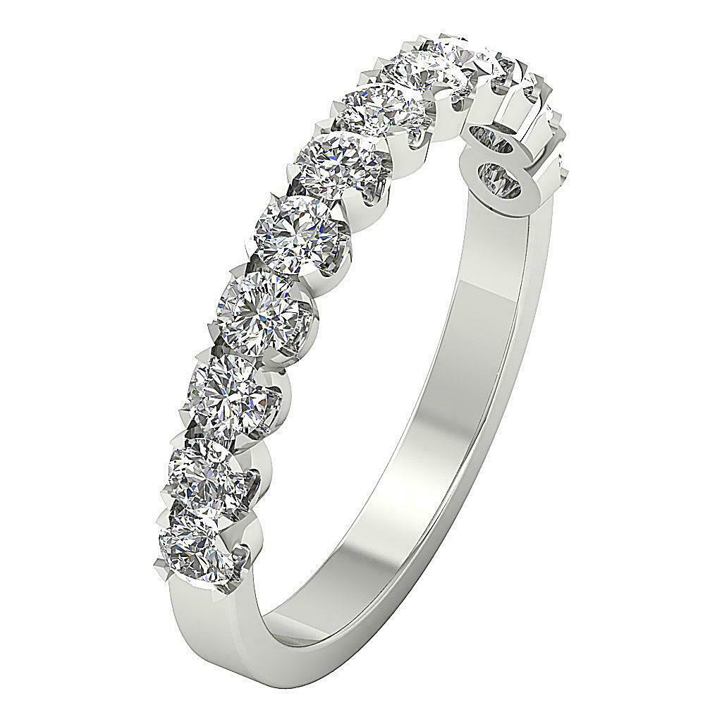 Engagement Wedding Rind Real Diamond I1 G 1.05 Ct 14K Solid White gold Appraisal