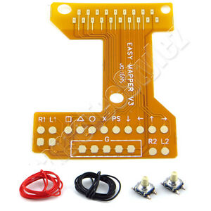 Easy-Remapper-Board-V3-fuer-PS4-Controller-JDM-040-041-2x-Pro-Taster-Kabel